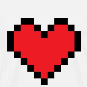 White huge pixel heart T-Shirts - Men's Premium T-Shirt