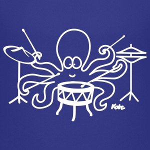 Royal blue  Octopus drummer Kids' Shirts - Kids' Premium T-Shirt