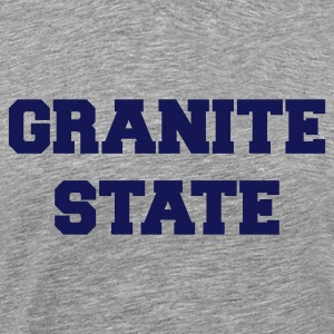 Heather grey new hampshire granite state T-Shirts - Men's Premium T-Shirt