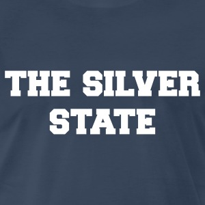 Navy nevada the silver state T-Shirts - Men's Premium T-Shirt