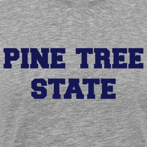 Heather grey maine pine tree state T-Shirts - Men's Premium T-Shirt