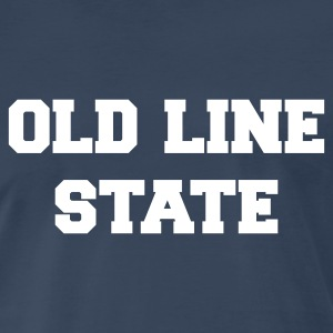 Navy maryland old line state T-Shirts - Men's Premium T-Shirt