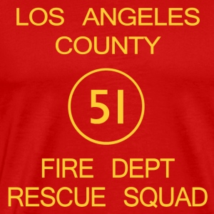 Squad 51 EMERGENCY! Men's Heavyweight T-shirt - Men's Premium T-Shirt