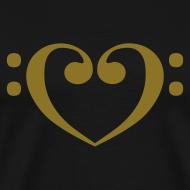 Design ~ Bass Clef Gold Heart