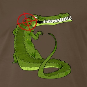 Chocolate Alligator Hunter T-Shirts - Men's Premium T-Shirt