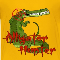 Yellow Alligator Hunter Kids' Shirts
