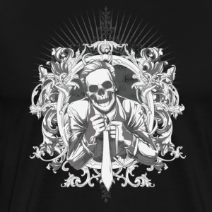 Black dead businessman T-Shirts - Men's Premium T-Shirt