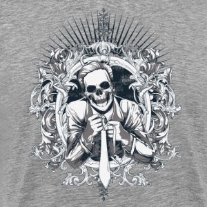 Heather grey dead businessman T-Shirts - Men's Premium T-Shirt