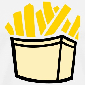 Food Fries (3c) T-Shirts - Men's Premium T-Shirt