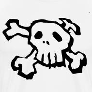 Design ~ Black Skull and Cross bones tee shirt