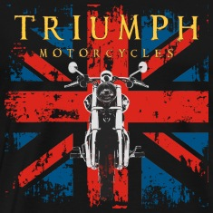 Distressed Triumph Motorcycle