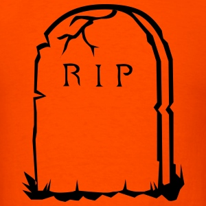 Orange RIP gravestone halloween T-Shirts - Men's T-Shirt
