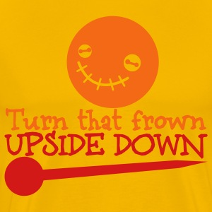 turn that frown upside down voodoo child T-Shirts - Men's Premium T-Shirt