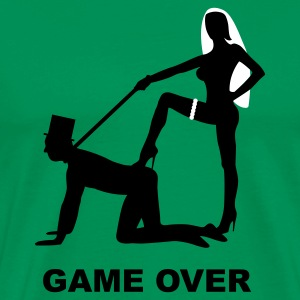 game over marriage matrimory wedlock fog haze double heiht heyday nuptials wedding zenith dominatrix lash whip slave bondman sex T-Shirts - Men's Premium T-Shirt