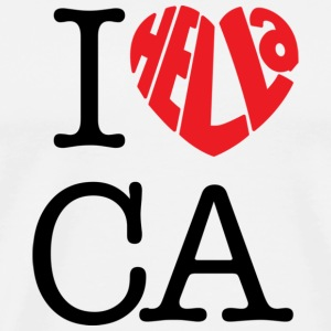 I Hella Love California - Men's Premium T-Shirt