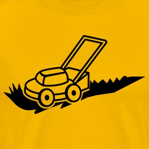 lawn mower mowing contractor cutting grass T-Shirts - Men's Premium T-Shirt