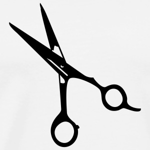 barber's scissors (1c) T-Shirts - Men's Premium T-Shirt