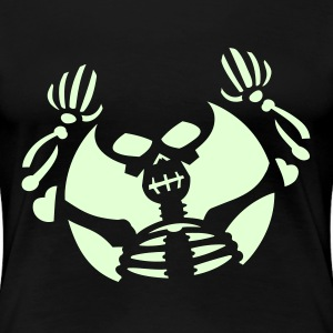 Skeleton Boooo (vector) - only .75 @theshirtheads.com Plus Size - Women's Premium T-Shirt