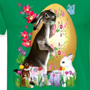 A Good Three Bunny Easter  - Men's Premium T-Shirt