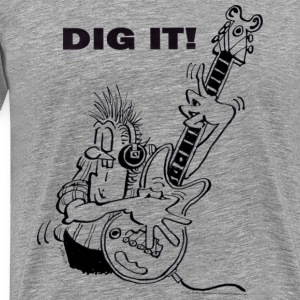 Dig It electric guitar player T-Shirts - Men's Premium T-Shirt