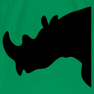 rhino rhinoceros shape facing left T-Shirts - Men's Premium T-Shirt