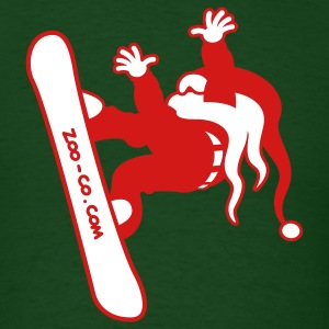 Santa Claus Goes Snowboarding T-Shirts - Men's T-Shirt