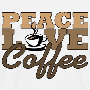 Peace, Love & Coffee T-Shirts - Men's Premium T-Shirt