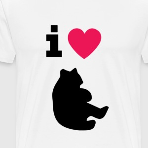 i love bears - heavyweight shirt men - Men's Premium T-Shirt