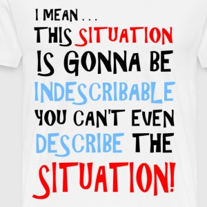 The Situation is Indescribable T-Shirts - Men's Premium T-Shirt