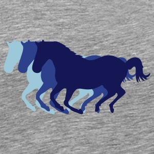 Three horses at a gallop - Horse riding - dressage horses riding horse race T-Shirts - Men's Premium T-Shirt