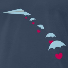 Paper Plane with Skydiver Hearts T-Shirts
