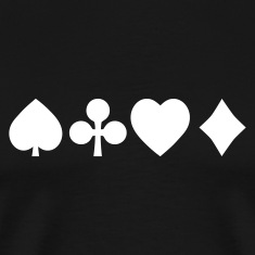 Spades diamond cross heart - card deck T-Shirts