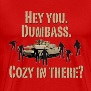 Cozy in There? Zombie Walking Dead T-Shirts - Men's Premium T-Shirt