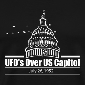 UFOs over US Capitol 1952 - Men's Premium T-Shirt