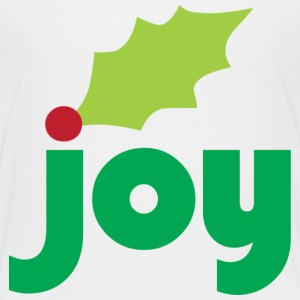 Joy with Holly Leaf and Berry Toddler T-Shirt - Toddler Premium T-Shirt