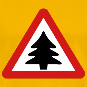 caution christmas tree - xmas T-Shirts - Men's Premium T-Shirt