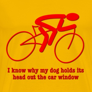 Bike Rider Knows How Dog Feels T-Shirts - Men's Premium T-Shirt
