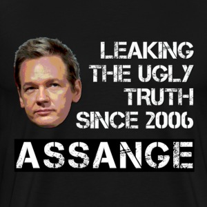 Assange Ugly Truth Wikileaks For Dark T-Shirts - Men's Premium T-Shirt