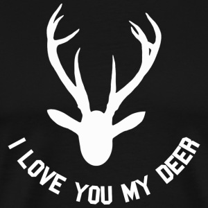 i love you my deer T-Shirts - Men's Premium T-Shirt