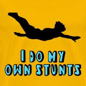Diving I Do My Own Stunts T-Shirts - Men's Premium T-Shirt