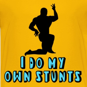 Bodybuilder I Do My Own Stunts Kids' Shirts - Kids' Premium T-Shirt