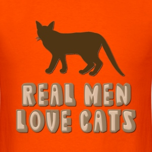 Real Men Love Cats T-Shirts - Men's T-Shirt