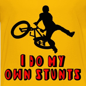 BMX Biker I Do My Own Stunts Kids' Shirts - Kids' Premium T-Shirt