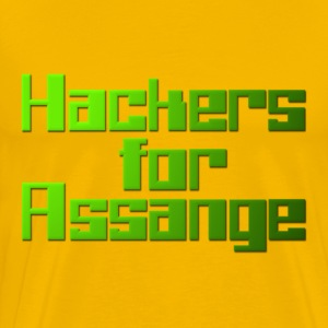 Hackers For Assange T-Shirts - Men's Premium T-Shirt