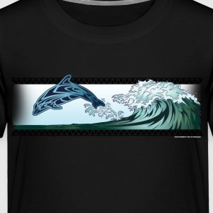 Dolphin riding the wave - Toddler Premium T-Shirt