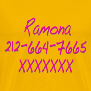 Ramona Phone Number Scott Pilgrim T-Shirts - Men's Premium T-Shirt