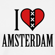 Design ~ I Love Amsterdam Men's Heavyweight T-shirt