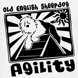 Old English Sheepdog Agility T-Shirt - Men's Premium T-Shirt