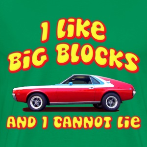 I Like Big Blocks And I Cannot Lie AMC AMX T-Shirts - Men's Premium T-Shirt