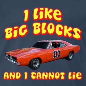 I Like Big Blocks Dodge Charger T-Shirts - Men's Premium T-Shirt